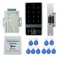 Diy rfid防水金属ドアアクセス制御システムでncフェイルセーフ電気ストライクロックシステム+電源+ドアスイッチ+キー