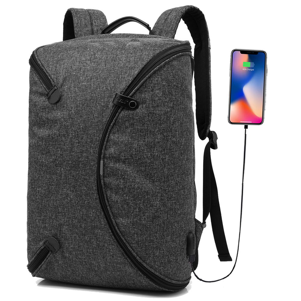 Personalized Foldable Travel Rucksack Anti-thief USB charging 15.6inch laptop backpack for women Men Backpack school Bag Mochila