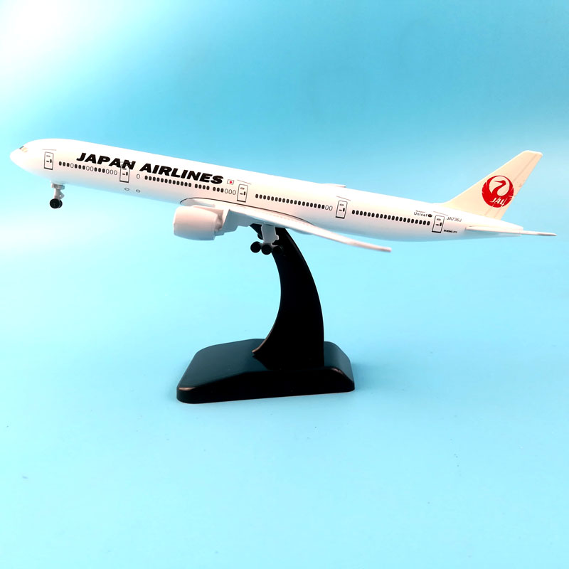 20CM BOEING 777 JAPAN AIRWAYS AIRPLANE METAL ALLOY MODEL PLANE AIRCRAFT MODEL TOY AIRCRAFT BIRTHDAY GIFT COLLECTON image