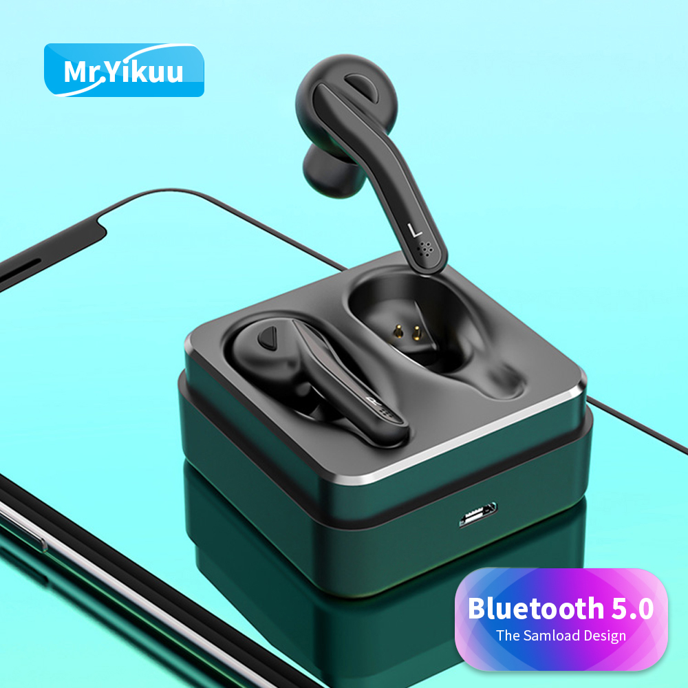 T88 Wireless Headset Portable Bluetooth 5 0 Earphones Deep bass in ear Earbud with Charging box