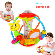 Baby Toys Activity Ball Baby Toys 0 12 Months Baby Rattle Ball Gnaw Grasp Educational Toys for Baby 0-12 Month Climb Learning