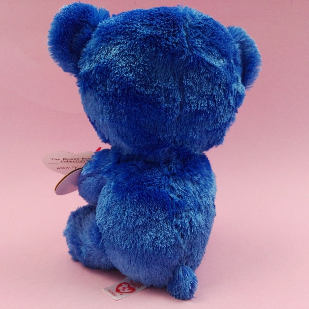 2018 TY Beanie Boo s ROMEO the Italy Blue Bear Brand New with Hang Tag  Plush Stuffed Animal Collectible Doll Toy Christmas Gift -in Stuffed    Plush Animals ... df55f918bb7