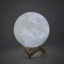 New Dropship 3D Print Moon Lamp 24cm 22c