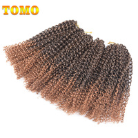 Refined Hair 12 6packs Lot 120strands Lot Ombre Afro Kinky Twist Hair Synthetic Crochet Braids Hair