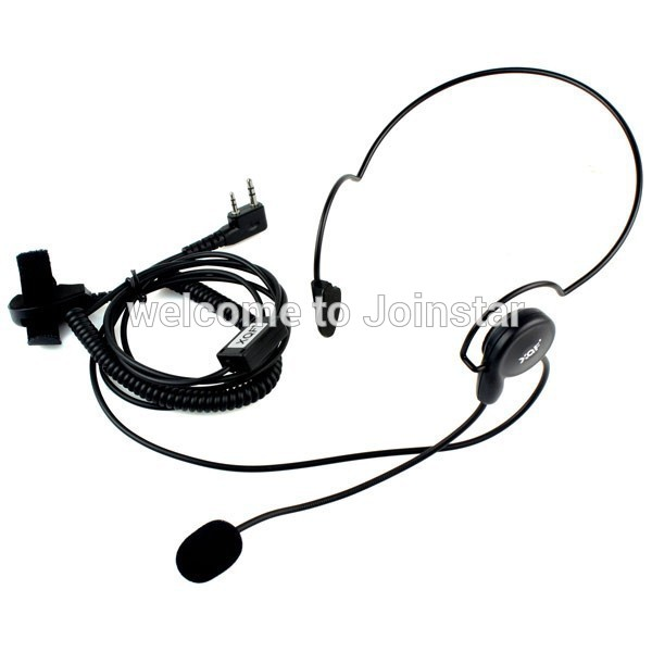 Tactical Radio Headset Auricular Unilateral Headphone With Mic Finger PTT Ecouteur Cycling Field Earphone For Kenwood Baofeng