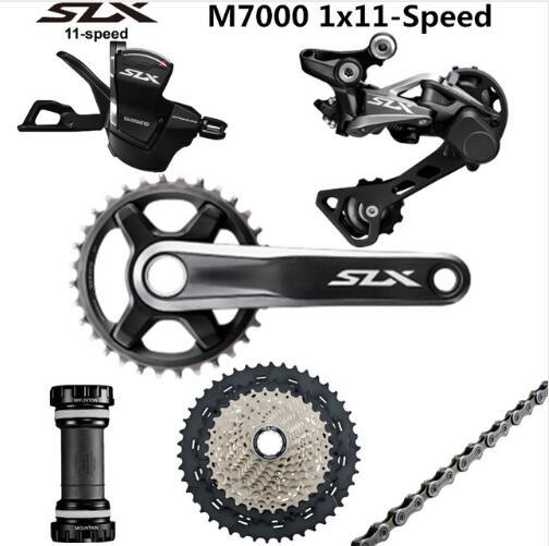 SHIMANO DEORE SLX M7000 Groupset 34 Т шатун горный набор велосипедных компонентов 1x11 Speed 40 т 42 т 46 т M7000 задний переключатель рычаг переключения передач