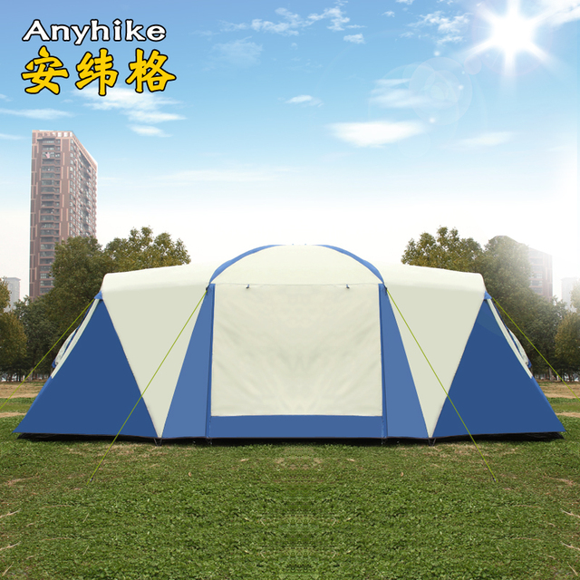 8 10 12 person 2 bedroom 1 living room huge anti rain shelter Party Family Base hiking fishing beach Relief outdoor camping tent