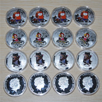 2012 Cook Islands The Return of the Prodigal Parrot Cat/Kesha/Raven Silver Coin,15pcs/lot free shipping