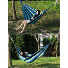 280*80cm Portable Hammock Double Person rainbow Outdoor Leisure Canvas Camping Hammocks Garden Swing Hanging Chair Sleeping Bed