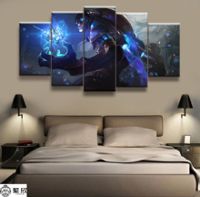 Hot Sales Without Frame 5 Panels Picture LOL League of Legends Canvas Print Painting Artwork Wall Art Wholesale