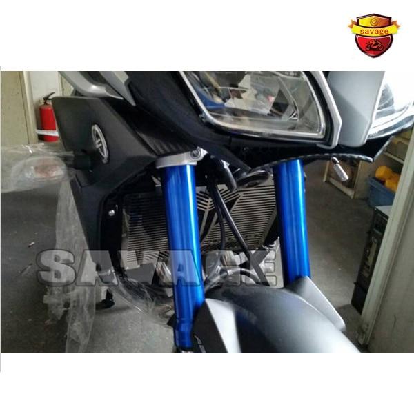 2015 accesorios de motos radiador protector de la cubierta del protector para ya