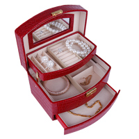 The leather of automatically jewelery box and gift package jewelry stand elegant and noble