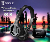 100 Original Bingle B616 Multifunction Stereo Wireless Headset Headphones With Microphone FM Radio For MP3 4