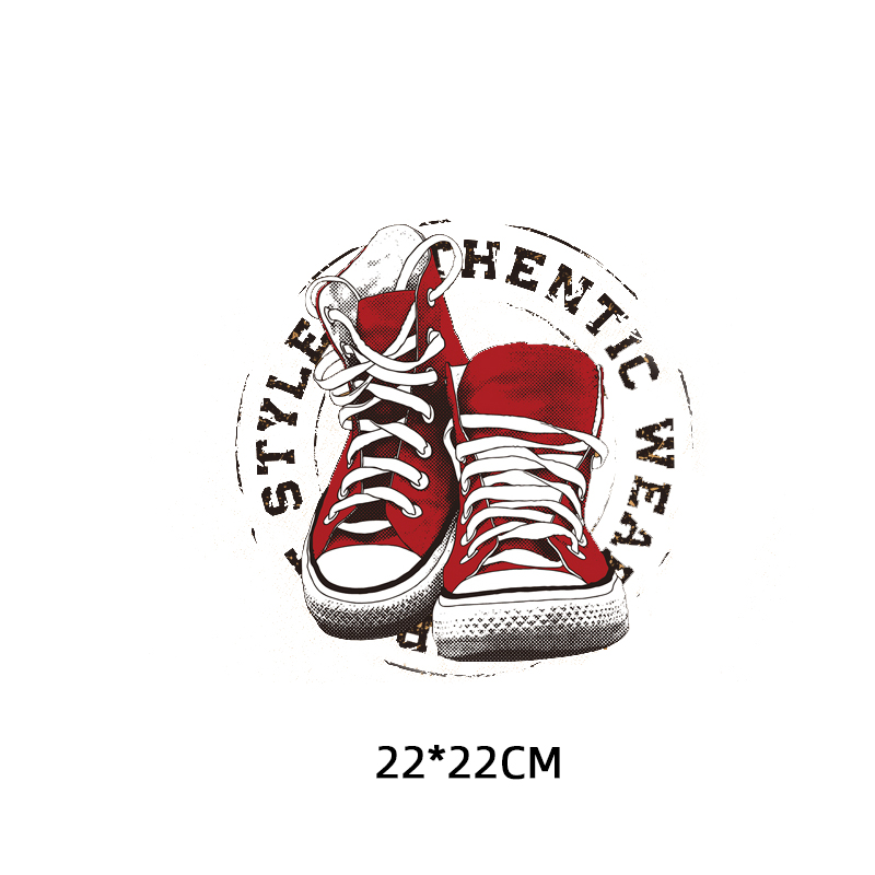 Iron on Shoes Patches for Clothing DIY T shirt Heat Transfer Vinyl Washable Stickers Letter Patch Appliques on Clothes Press in Patches from Home Garden