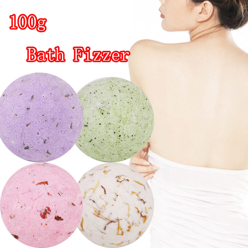 1X Natural Mineral Salt Bath Bomb Body Scrub Whitening Moisture Bath Fizzer 100g