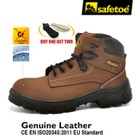 High Quality Big Size Genuine Nubuck Leather Brand Safety Work Boots Outdoor Safety Footwear Protective For