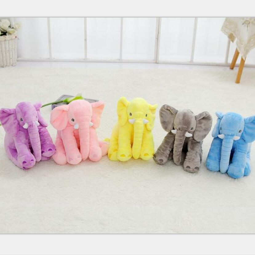 New 40cm Fashion Animals Toys Stuffed Soft Elephant Pillow Baby Sleep Toys Room Bed Decoration Plush Toys For Kids Gifts