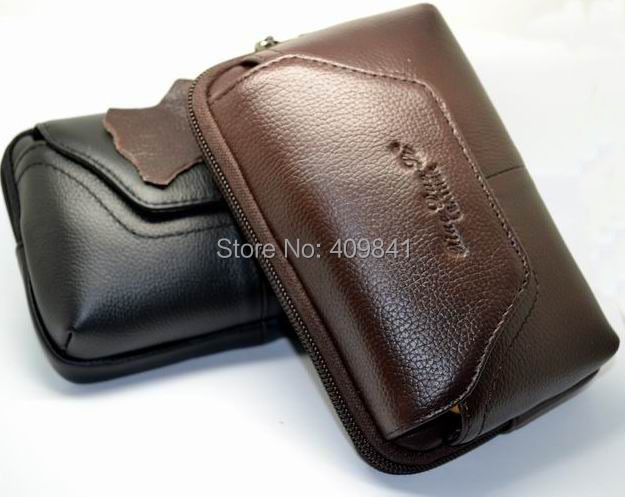 Freeshipping 100% Genuine Leather Case Pouch Holder for SAMSUNG Phones.Galaxy S III Sprint SPH-L710 Holster Belt Clip+ in stock