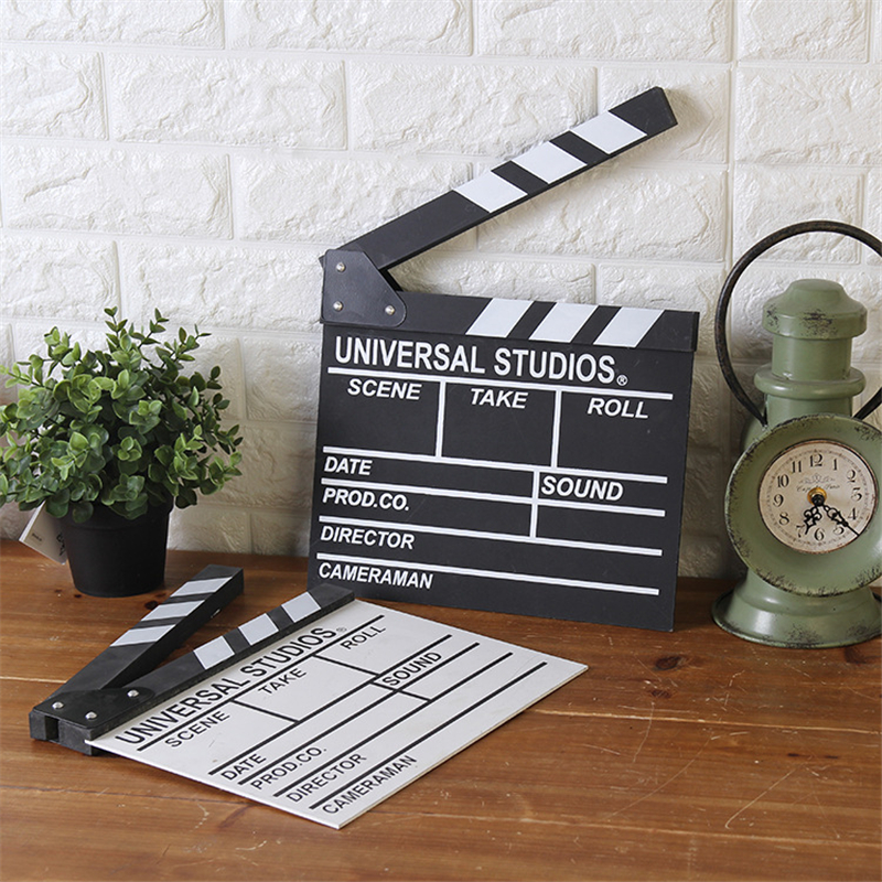 Director video scene clapperboard wood wood film slate for House decoration products
