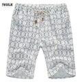 De gran tamaño del verano pantalones cortos de tela de lino de calidad lHigh pantalones marea pantalones de ocio ropa de verano pantalones de playa Conveniente de viaje envío gratis