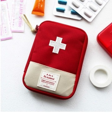 2 Color Household First Aid Kit Bag Outdoor Mini Medicine Package Emergency Kit Bags Small Medicine Divider Storage Organizer
