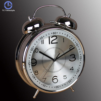 8 Inches Alarm Clock Retro Watch Table Metal Ringing Bell Digital Table Alarm Clocks Living Room Bedroom Home Decor