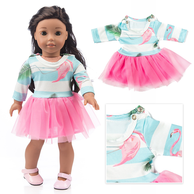 Colorful Dress Clothes Fits For American Girl 18