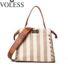Luxus-handtaschenfrauen-designer Leinwand Handtasche Damen Leder Crossbody Taschen Für Frauen Tote Tasche Patchwork Umhängetasche