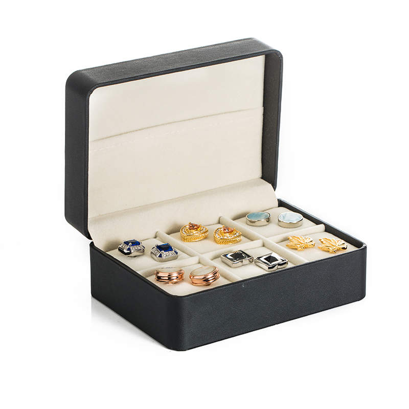 Hot Sale Gift Cuff Links Box For 6pairs Tie Bar Box Gemelos Storage Box Cufflinks Case 26