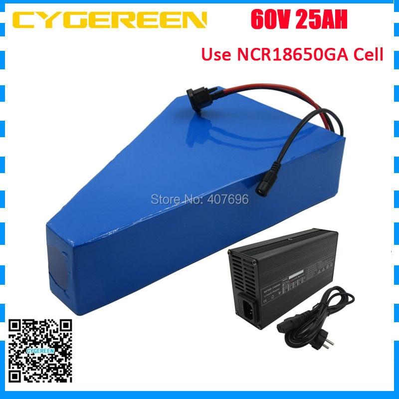 60V 25AH Triangle battery 60V 24.5AH lithium ion battery 60 V AKKU use GA 3500mah cell 50A BMS with free bag