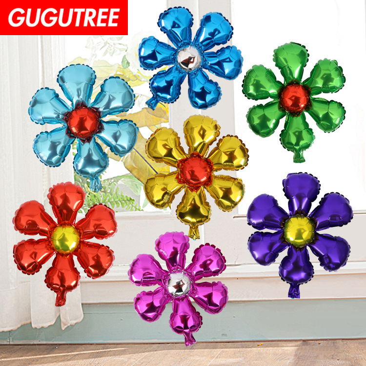 Decoration 18inch flower foil 10 pieces balloons wedding event christmas halloween festival birthday party HY 322 in Ballons Accessories from Home Garden