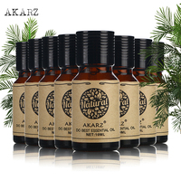 AKARZ Famous brand value meals Castor Camellia seeds Ylang ylang Geranium Lavender Cinnamon Patchouli Rose essential oil 10ml*8