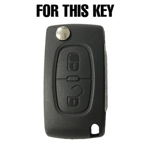 Image 2 - 2 Button Silicone Car Remote Key Fob Cover Case For Peugeot 308 207 307 807 For Citroen C3 Picasso C Crosser C4 Dispatch C8