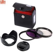 5in1 49mm 52mm 55mm 58mm 62mm 67mm 72mm 77mm UV CPL FLD Filter Set KIT+  Lens Hood+Lens lens cover For Sony Pentax Nikon Canon