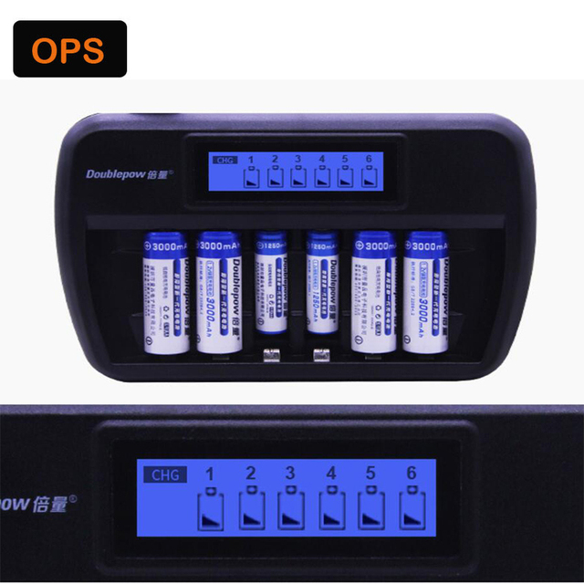 6 slot LED NiMH battery charger suitable for AA, AAA&Fast charge&Repair bad battery