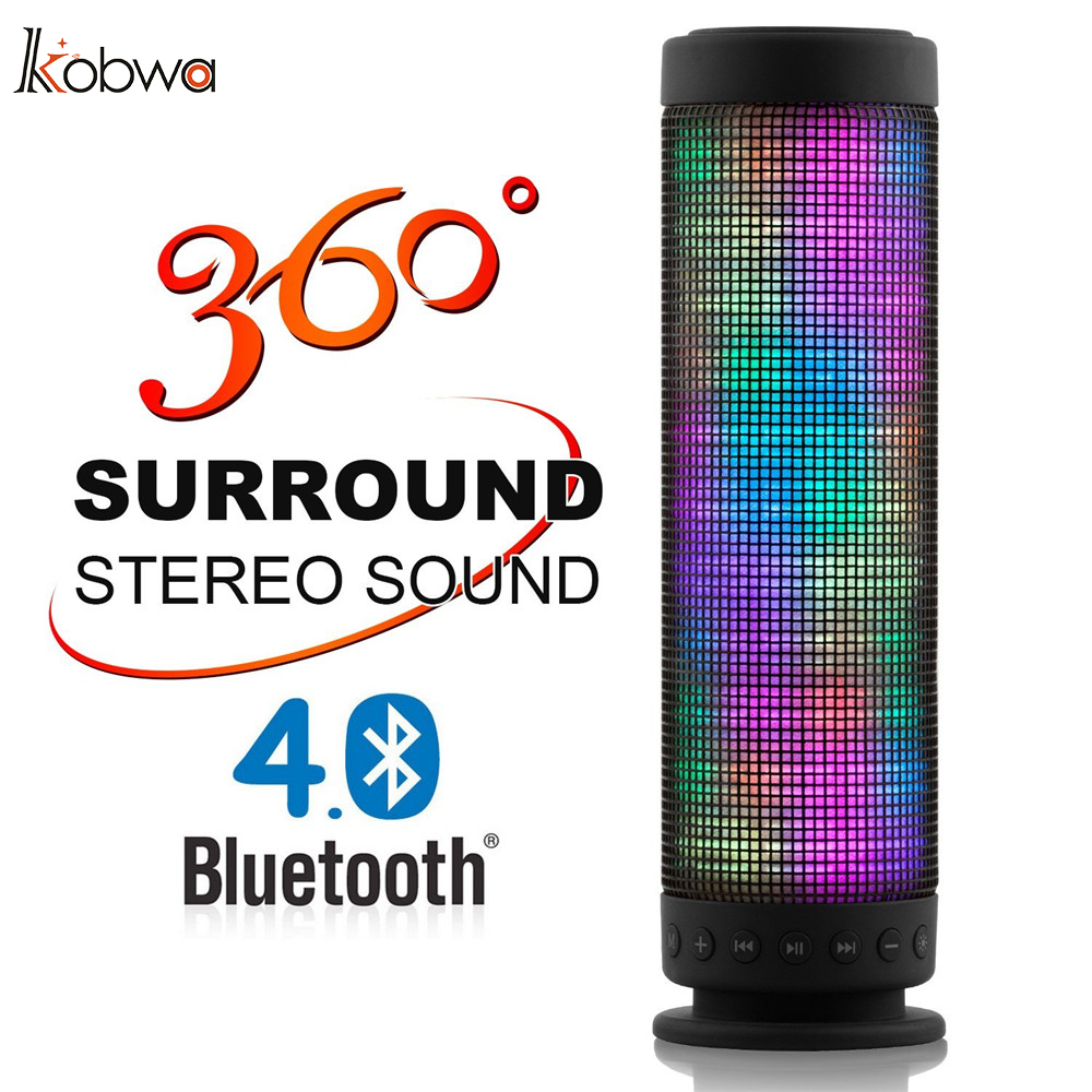 Colorful Led Lights Wireless Bluetooth Speaker 360 Degree Usb Dc 5v Surround Stereo Sound Portable Recharging Portable Speaker 4  360 degree dc 5v usb surround stereo bluetooth speaker portable rechargeable wireless led lights sound speaker for smartphone