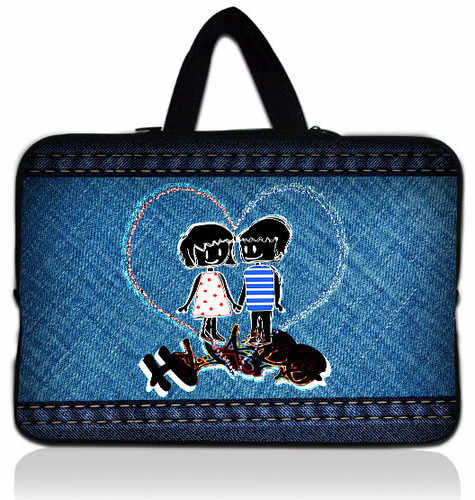 """Free Shipping  Lover 15"""" Laptop Carry Bag Case Cover For 15.6"""" Dell HP Pavilion /Acer Aspire"""