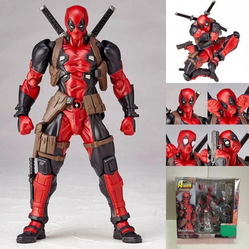 Amazing Yamaguchi 001 Deadpool PVC Action Figure Model Toy High Quality Cartoon Deadpool Collections Toy Doll Creative Gift deadpool action figure revoltech 160mm series no 001 anime deadpool collectible model doll toy