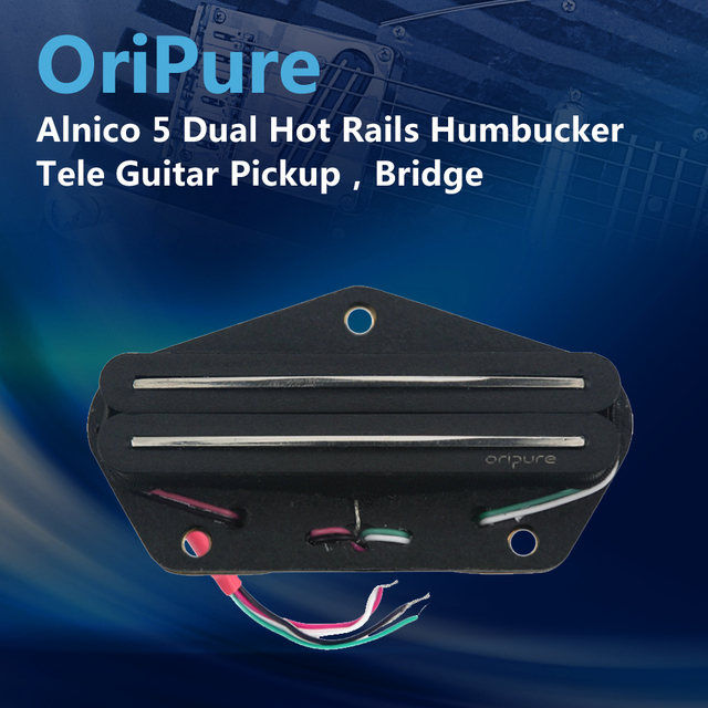 OriPure מאלניקו 5 כפולה מסילות Humbucker איסוף גיטרה חשמלית איסוף Tele גשר גיטרה חלקי אבזרים