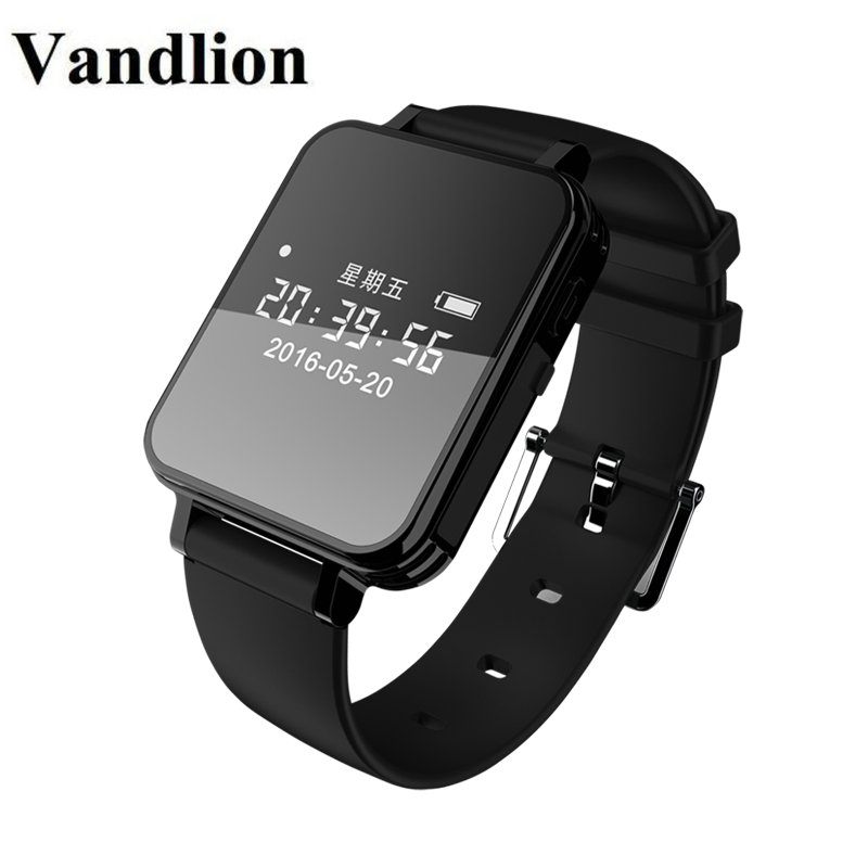 Vandlion Digital Audio Recorder Watch Voice Activated Recording Wrist Band 1536kbps Dictaphone OLED Screen Recorder Business V81 vandlion v2 digital voice recorder wrist watch audio rechargeable dictaphone mp3 player mini recording pen recorder for business