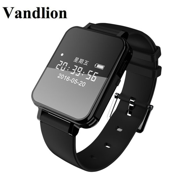 Vandlion Digital Audio Recorder Watch Voice Activated Recording Wrist Band 1536kbps Dictaphone OLED Screen Recorder Business V81 Digital & Android watch