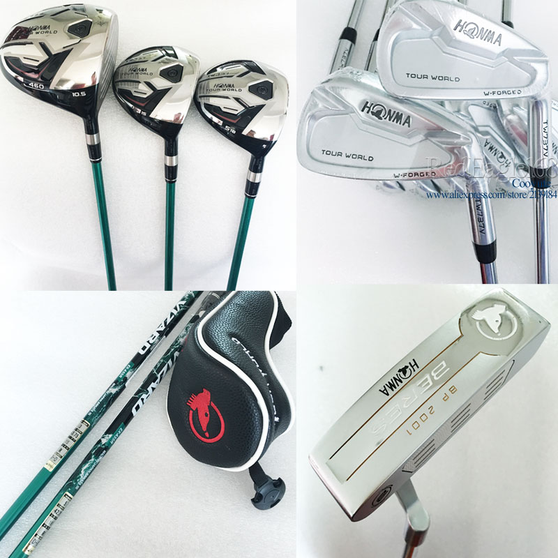 Cooyute New Golf Clubs HONMA TW737 Golf Compelete Set Of Clubs TW737 Wood+TW737V Irons Graphite & Steel Golf Shaft Free Shipping