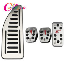 Color My Life Car Gas Fuel Pedal Set Brake Pedals Rest Foot Pedal Covers for Ford Focus 2 3 4 MK2 MK3 MK4 RS ST Kuga Escape(China)