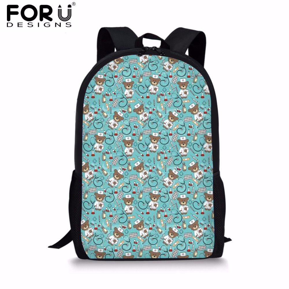 FORUDESIGNS Canvas Women Backpack 2018 HOT SALE Nurse Fashion School Backpack Bags for Teenage Girls Casual Women 39 s Bags Bolsa in Backpacks from Luggage amp Bags