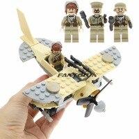 WW2 Educatief bouwstenen met 3 cijfers wapens guns militaire soldaten vliegtuigen model DIY bricks speelgoed voor kinderen