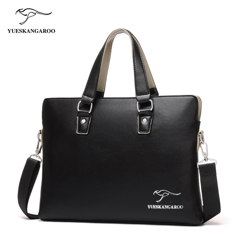 YUESKANGARO New Brand Men Bag Leather Handbags Men's Casual business Briefcase Shoulder Bag for Men Tote Male Brown Black bolsa art palace 966 picasso colorful pens business office financial fountain pen ef red gift pen