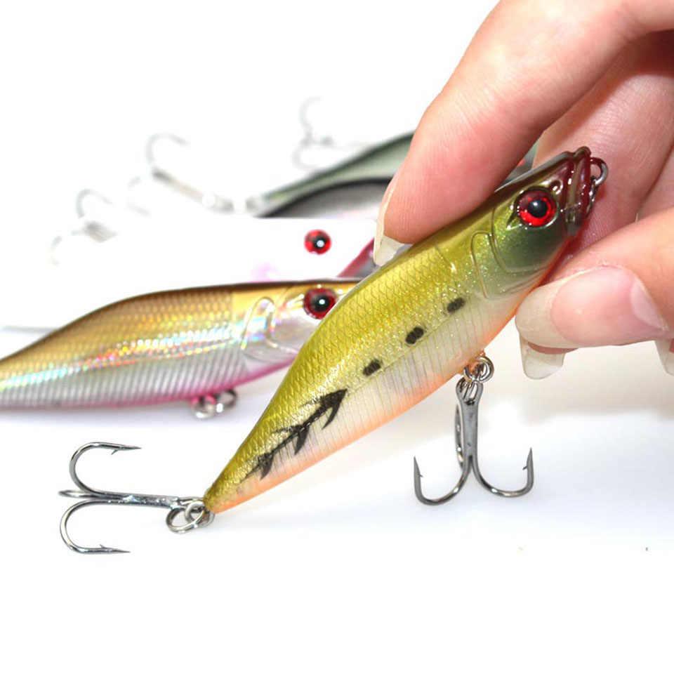 المشي الصيد 1 قطعة 7 سنتيمتر 7.2 جرام بوبر الصيد السحر عيون ثلاثية الأبعاد الطعم cranbait Wobblers Isca بوبر Pesca اليابان الصيد معالجة