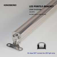 10pcs 1m Led Aluminum Extrusion With Brackets Mounting Channel Alloy Shell Housing For Led Bar Light