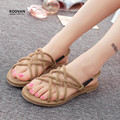 koovan women Sandals New 2017 Contracted Rome Stagger  Hemp Rope Women Sandals Casuals Gladiator Women Sandals