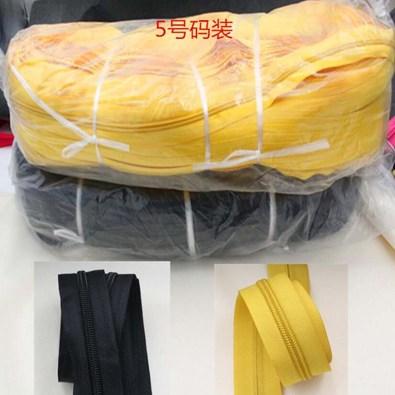 3Meters Long 5# Black White Grey Red Yellow Green Beige Nylon Coil Zippers For DIY Sewing Garment Accessories 11colors Available